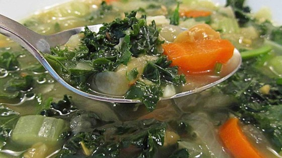 Photo of April's Spicy Chickpea Soup with Kale by Linda(LMT)