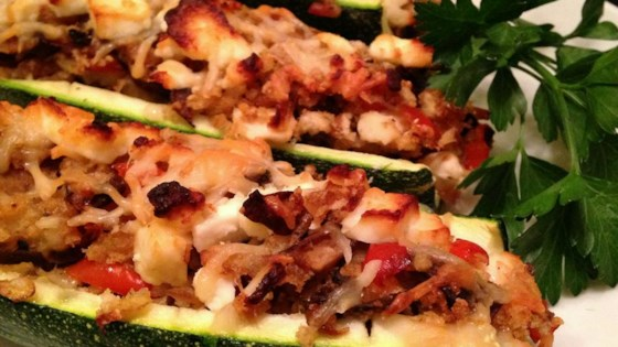 Photo of Stuffed Zucchini Shells by VJUNE