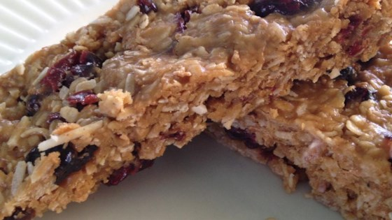 Photo of Chewy Peanut Butter Cranberry Bars by e.oliver365