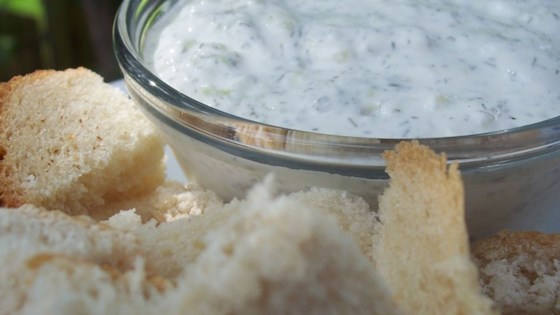 Photo of Sour Cream, Cucumber and Dill Dip by sylvaere