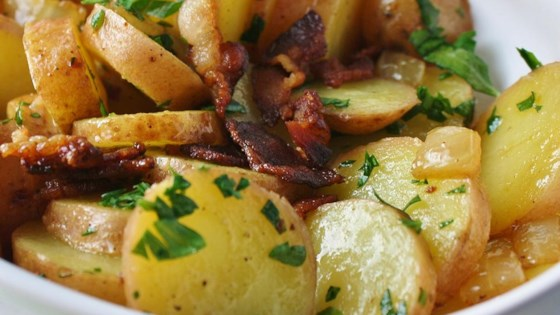 Photo of Sliced Potatoes with Bacon and Parsley by Michele O'Sullivan