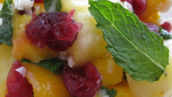 Mango Pineapple Salad with Mint