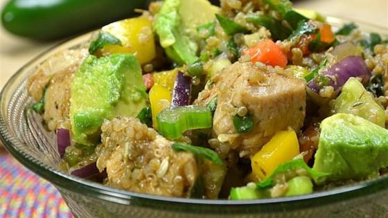 One skillet mexican quinoa recipe allrecipes mexican chicken quinoa salad forumfinder Choice Image