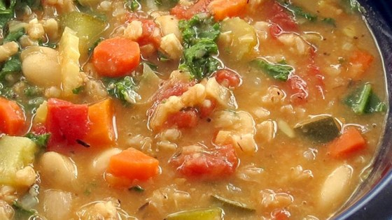 Photo of Kale, White Bean, and Farro Stew by snichole