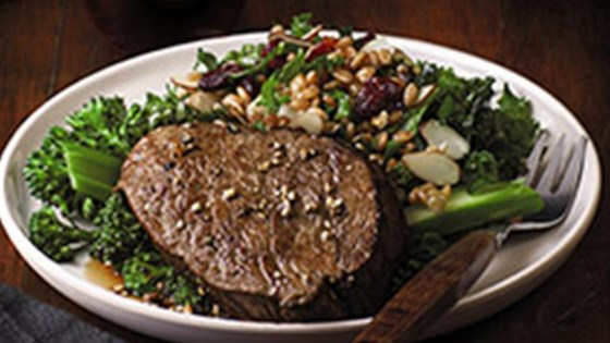 Photo of Beef Filets with Ancient Grain and Kale Salad by Beef. It's What's For Dinner.