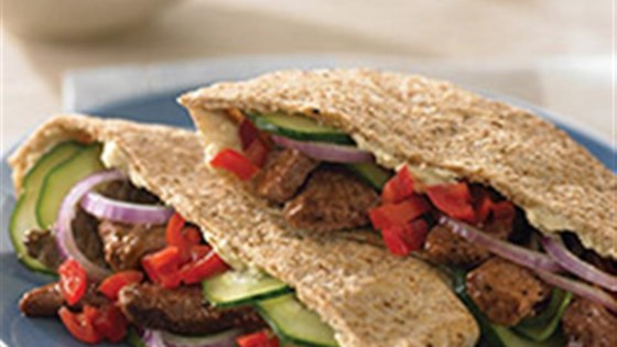 Photo of Greek-Style Beef Pita by Beef. It's What's for Dinner.