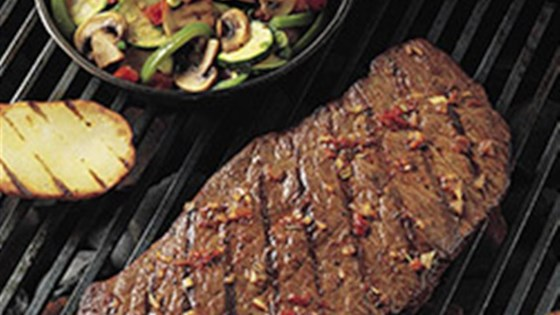 Photo of Grilled Southwestern Steak and Colorful Vegetables by Beef. It's What's For Dinner.