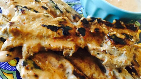 Martys thai chicken satay recipe allrecipes photo of martys thai chicken satay by thaichefmarty forumfinder Images