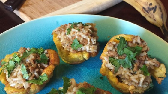 Photo of Tostones Rellenos (Stuffed Plantain Cups) by LatinaCook