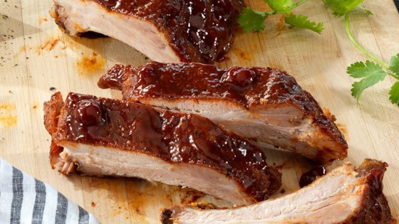 Photo of Cherry-Chipotle Glazed Back Ribs by Smithfield®