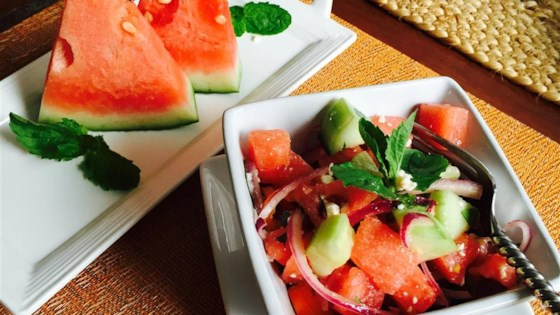 Photo of Refreshing Cucumber Watermelon Salad by kateroo