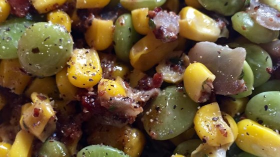 Photo of Creamy Succotash with Bacon, Thyme and Chives by USA WEEKEND columnist Pam Anderson
