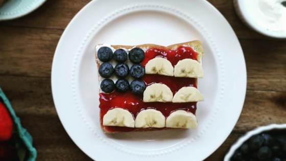 Photo of Red, White, and Blue Flag Toast by voraciousgirl
