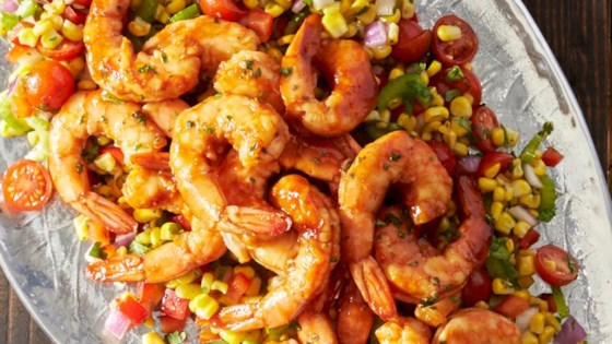 Photo of Grilled BBQ Shrimp with Citrus Corn Salad by Reynolds Kitchens®
