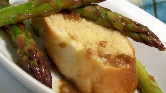 Photo of Grilled Asparagus with Roasted Garlic Toast and Balsamic Vinaigrette by DJFoodie