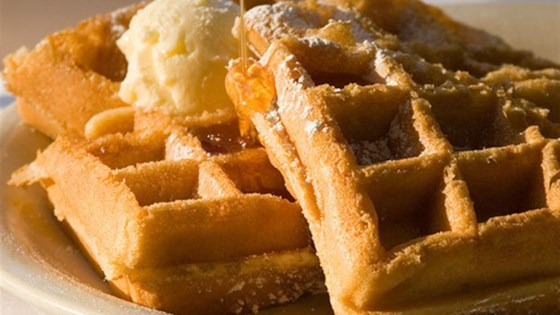 Photo of Peanut Waffles With Butterscotch Sauce by LACTAID®