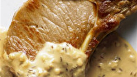Photo of Pork Chops with Coriander Cream Sauce by LACTAID®