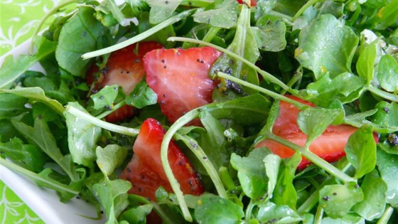 Photo of Summer Greens and Strawberries with Poppy Seed Dressing by mkoll112