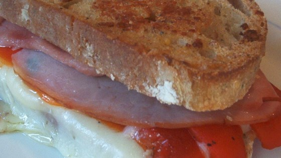 Photo of Grilled Roasted Red Pepper and Ham Sandwich by LORIMCLAREN