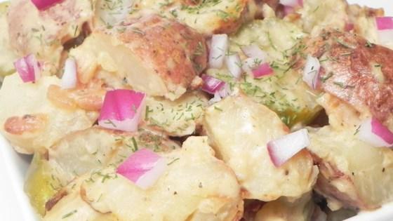 Grilled Potato Salad with Crazy Steve's Cajun Cukes