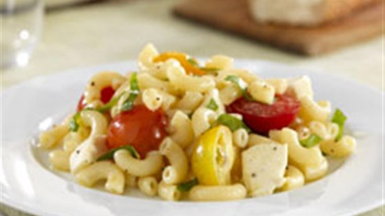 Photo of Barilla® Macaroni Pasta Salad with Cherry Tomatoes, Fresh Mozzarella and Basil by Barilla®