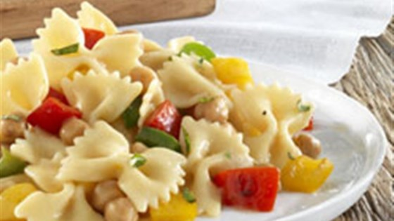 Photo of Barilla® Farfalle with Sweet Bell Peppers, Chickpeas and Romano Cheese by Barilla®