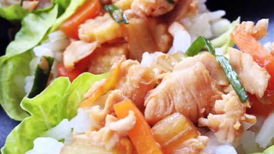 Photo of Asian Chicken and Rice Lettuce Wraps by Baking Nana