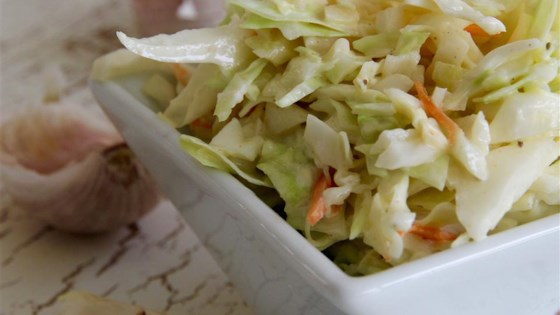 Photo of Vincent's Famous Garlic Coleslaw by crancherry
