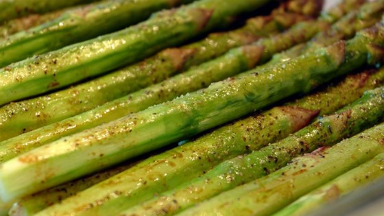 Photo of Baked Asparagus with Balsamic Butter Sauce by CAE