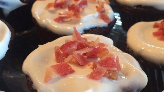 Photo of Gluten-Free Chocolate-Whiskey-Bacon Cupcakes by Christine Walker Scarce