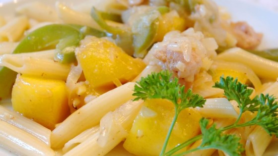 Photo of Chicken and Pasta in a Mango Cream Sauce by SHAGGYDEE