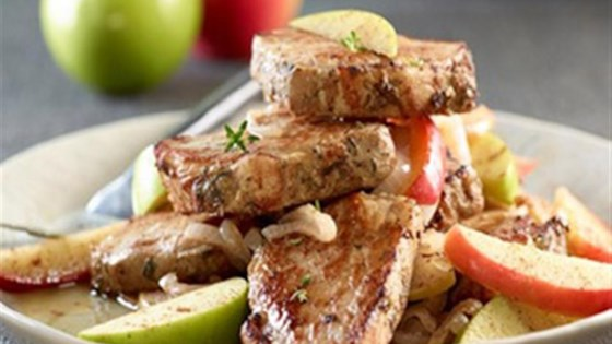 Garlic Herb Pork Medallions with Apples
