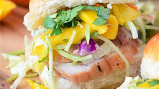 Photo of Pork Tenderloin Sliders with Spicy Mango Slaw by Smithfield®