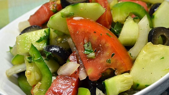 Photo of Sylvia's Easy Greek Salad by SKEHLER
