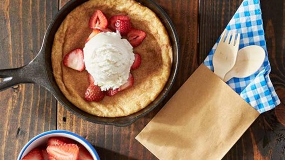 Photo of Strawberry and Snickerdoodle Skillet Cookie Sundaes by Reynolds Kitchens®