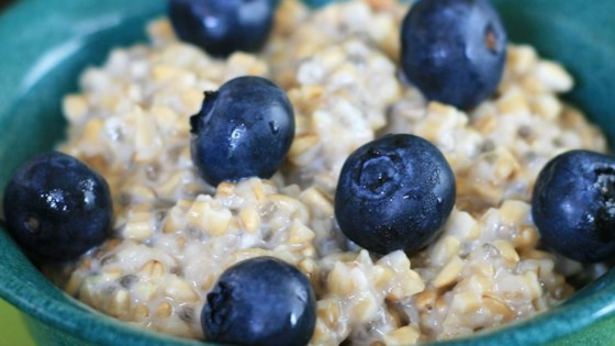 Photo of Steel Cut Oats with Blueberries and Lemon Zest by cpthomson