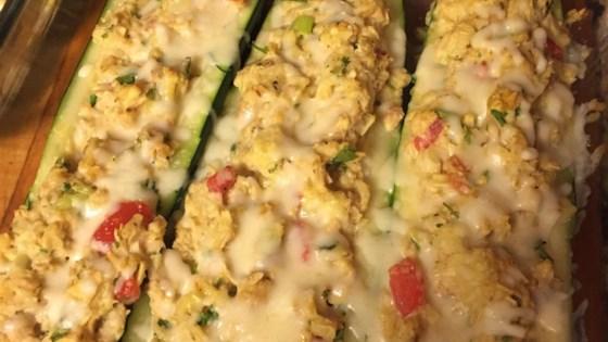 Tuna-Stuffed Zucchini