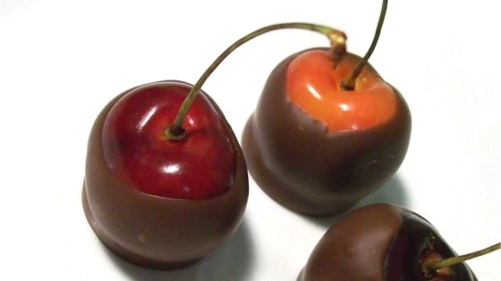 Chocolate Dipped Bing Cherries
