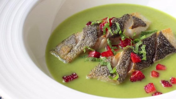Photo of Spring Pea Green Curry with Black Cod and Strawberry by Chef John