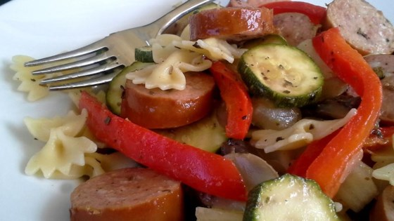 Photo of Sausage Stir Fry with Bow Tie Pasta by Dawn P.