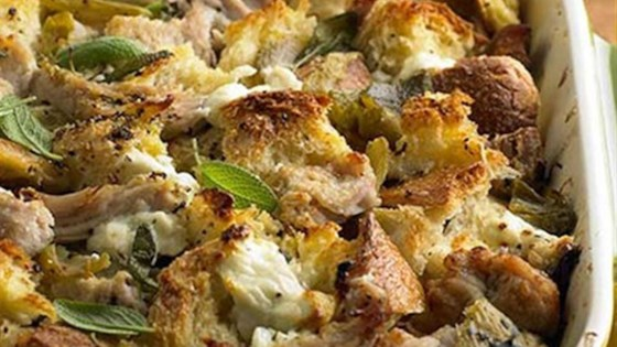 Photo of Pork Roast Strata with Green Chiles and Goat Cheese by Smithfield®