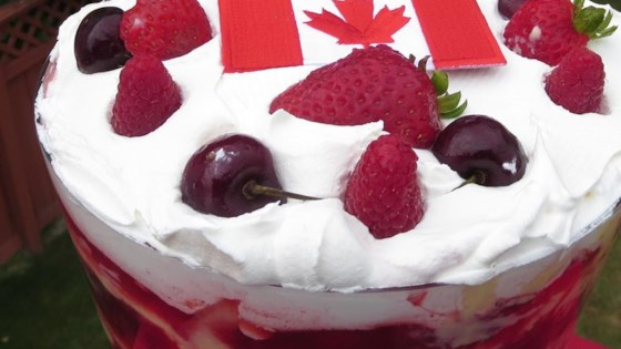 Photo of Canada Day Three Berry Trifle by Phoebe