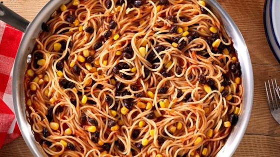 Photo of Best-Ever Spicy Spaghetti with Corn and Beans by Barilla