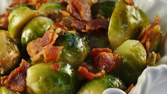 Photo of Braised Brussels Sprouts with Bacon by Chef Kim
