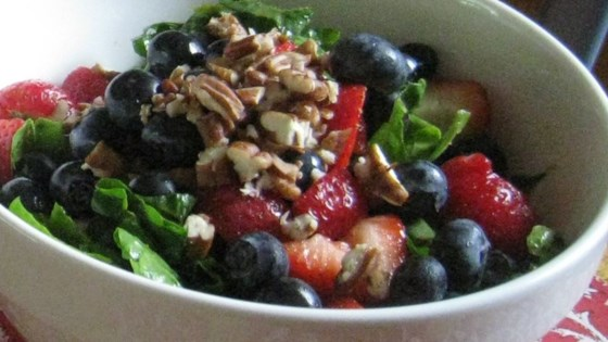 Photo of Spinach Salad With Berries and Curry Dressing by USA WEEKEND columnist Jean Carper