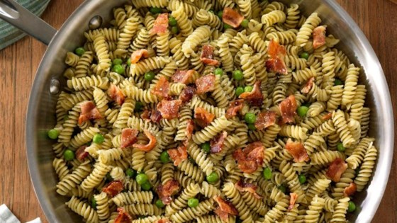 Photo of Easy One Pan Rotini with Pesto, Bacon and Peas by Barilla