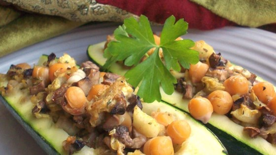 Photo of Zucchini with Chickpea and Mushroom Stuffing by jackie