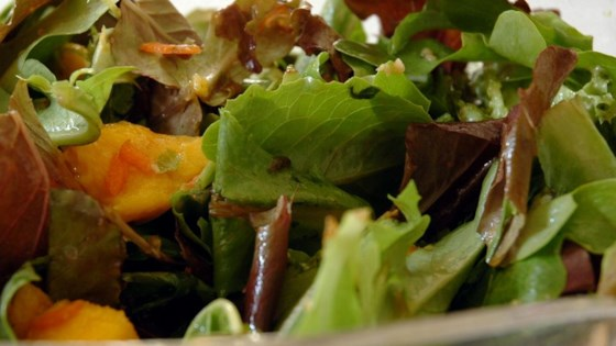 Photo of Mesclun and Mango Salad with Ginger Carrot Dressing by JENNIFER HARMAN