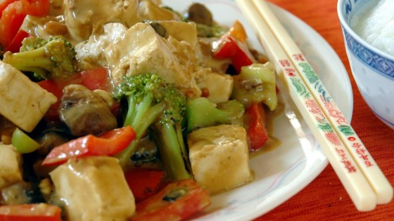 Photo of Tofu and Veggies in Peanut Sauce by Anne Buchanan