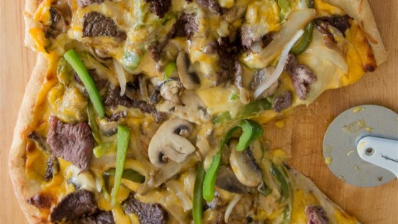 Photo of Easy Philly Cheese Steak Pizza by nichole b